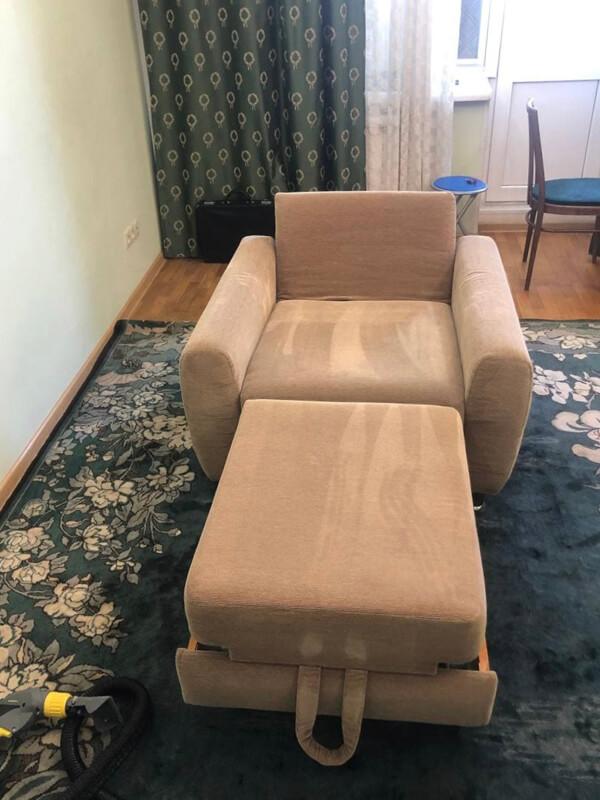 кресло после чистки
