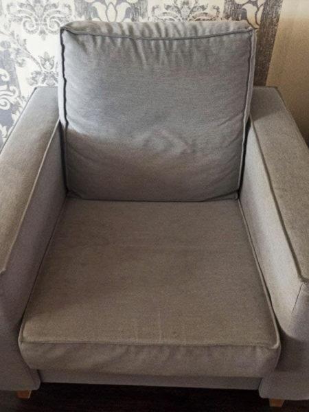 кресло до химчистки