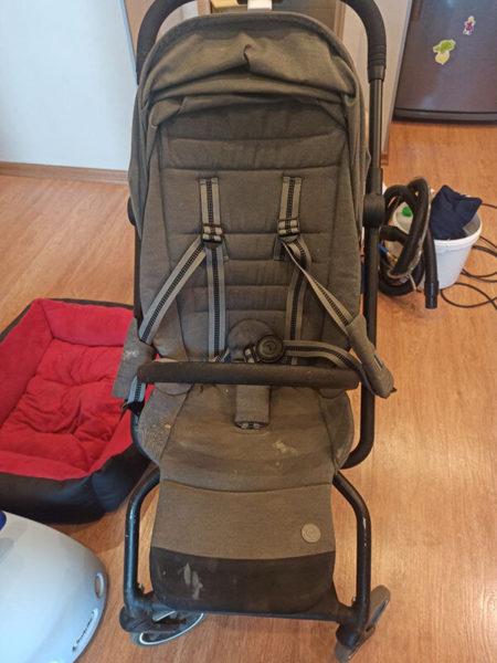детская коляска до чистки